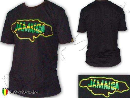 T Shirt ropa vetement Rasta Roots Jah Rastafari Jamaica Jamaique Black TS235B