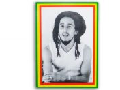 Autocollant Rasta Reggae Bob Marley Portrait AS105