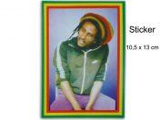 Autocollant Rasta Jamaica Bob Marley Portrait AS109