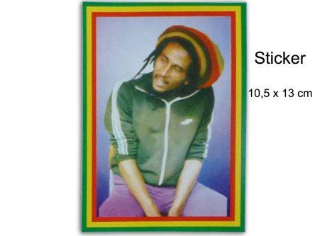 Bob Marley Portrait Sticker Vintage Photo AS109