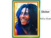 Autocollant Rasta Bob Marley Portrait AS111