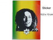 Autocollant Rasta Jamaica Bob Marley Star AS118