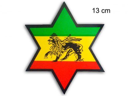 Rasta Star Sticker Conquering Lion of Judah AS150
