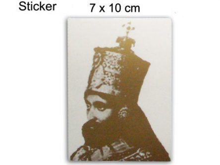 Autocollant Sticker Haile Selassie I Couleur Or AS210