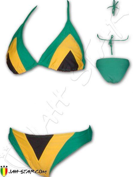 Bikini swimming suit costume da bagno roupa de banho Badeanzug rasta Jamaica Jamaika Jamaique DR500
