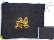 Rasta Purse Wallet Jamaica Lion Embroidered Hemp B109B