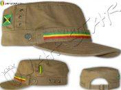 Gorra Militar Rasta Casquillo Bandera de Jamaica Marrón C125B