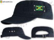 Gorra Militar Rasta Casquillo Bandera de Jamaica Negro C165B