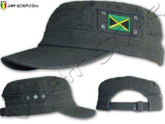 Cap Casquette Rasta Captain Jamaica Flag Grey C165G