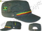 Rasta Army Cap Jamaica Flag Kaki C125K