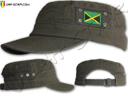 Gorra Militar Rasta Casquillo Bandera de Jamaica caqui