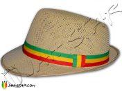 Rasta Fedora Hat Bob Marley Brown H260C