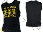 Camisata sin mangas Rasta Rock Reggae Roots Bob Marley Lion Jah Star Noir D344B