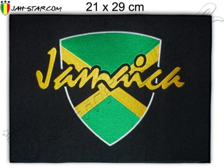 Grand Ecusson Rasta Jamaique Freedom Thermocollant