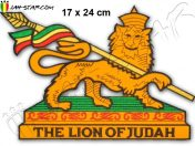Grand Ecusson Rasta Conquering Lion Of Judah Thermocollant