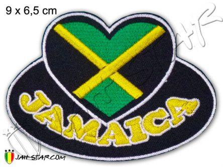 écusson Rasta One Love Jamaïque Coeur Thermocollant