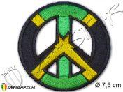 Parche rasta reggae Peace Love