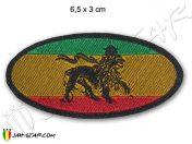 Ecusson iron on patch Parche rasta reggae roots Jah star Lion E110