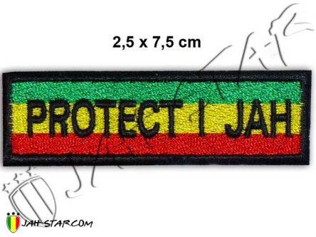 Ecusson Rasta Rastafari Protect I Jah Thermocollant
