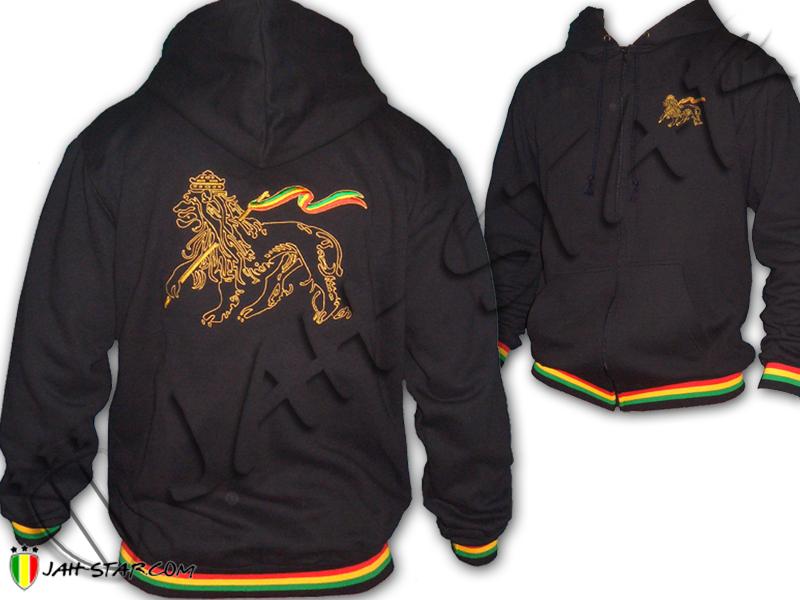Lion Of Judah Rasta Rastafari Reggae Bob MarleyZip Zipped Hoodie Hoody Jacket