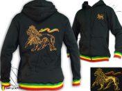 Rasta Hoodie Lion Of Judah Embroidered TJ101B