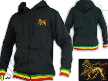 Rasta Hoodie Rasta Reggae Lion Embroidered TJ1000B