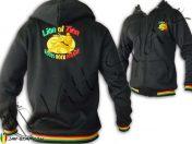 Rasta Hoodie Lion of Zion Roots Rock Reggae Embroidered TJ155B
