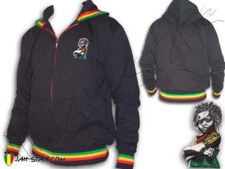 Veste Capuche Epaisse Rasta Baby Africa Freedom Logo Brodé YJ115B