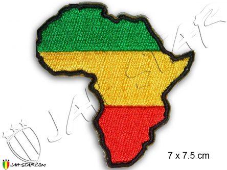 Ecusson Rasta Reggae Roots Africa Afrique Thermocollant