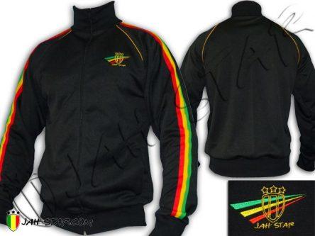 Chaqueta Rasta Lion Of Zion Roots Rock Reggae Negro JB107B