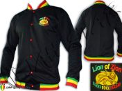 Veste Rasta Lion Zion logo Brodé Col Rasta JC107B