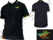 Polo Reggae Rasta Bob Marley Jah Star Logo Brodé PO103B