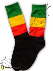 Sock Long calzino peuga calcetin Socke chaussette Rasta Rastafari A107