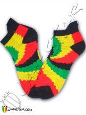Sock calzino peuga calcetin Socke chaussette Rasta Rastafari A105R