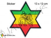 Autocollant Rasta Etoile Lion Of Judah AS155