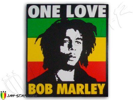 Sticker autocollant adesivo Aufkleber etiqueta engomada rasta jah star one love bob marley AS25