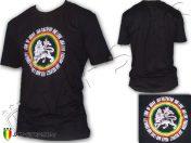 Tee Shirt Rasta Jah Live Lion Of Judah One Love Negro TS265B