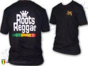 Tee Shirt Rasta maglietta Jah Star Roots Reggae Rastafari Black TS387B