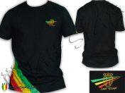 T-Shirt Rasta Wear Jah Star Logo 3 Stripes TS111B