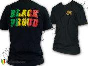 Tee Shirt Rasta Lion Of Judah Noir et Fière Martin Luther King Noir TS466B