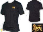 Tee Shirt Rasta Kleidung camiseta maglietta Jah Star Wear Lion Of Judah Black TS100B