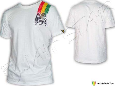 Tee Shirt Rasta maglietta Jah Star Line Lion Of Judah TS118W