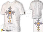 Tee Shirt Rasta Haile Selassie I the First Cruz ortodoxa Blanc TS438W