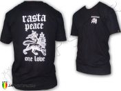 Tee Shirt Rasta Reggae Peace & Love One Love Jah Live Noir TS184B