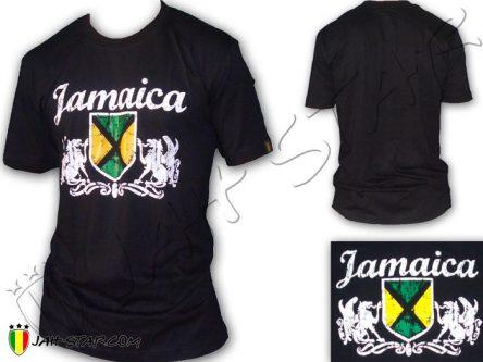 Tee Shirt Rasta Jamaica Jamaique Bob Marley Noir TS404B