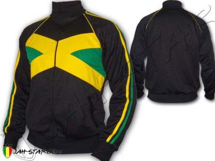 Veste Jah Star Jacket Vetement ropa Rasta Reggae Jamaican Style Jamaica Jamaique Black J143B