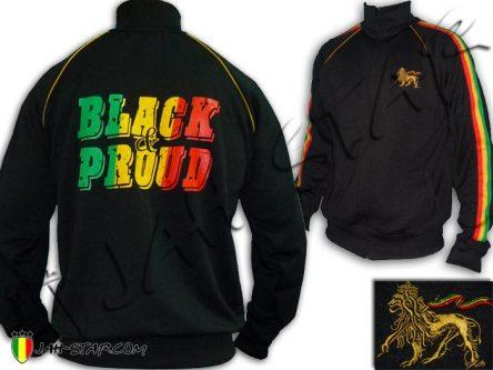 Veste Rasta Lion Of Judah Black & Pround Bob Marley JB466B