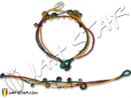 Ankle Bracelet Rasta with bells