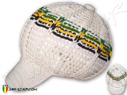 bonnet beanie gorro mutze cappello roots rasta Jamaica dreadlocks bob Marley White H110J