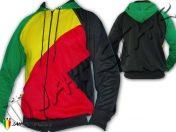chaqueta Jacket Hoodie Vetement vestiti Veste Capuche Reggae Rasta Africa 3 Couleurs Jamaica J112